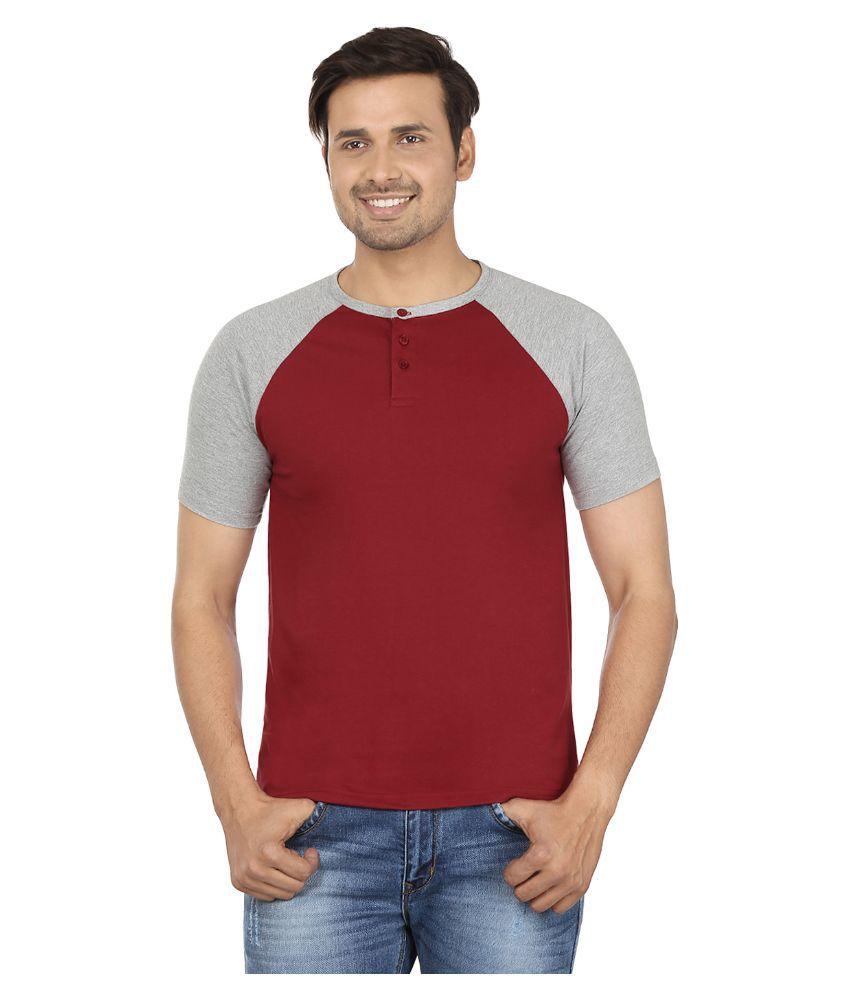 Jangoboy Maroon Round T Shirt