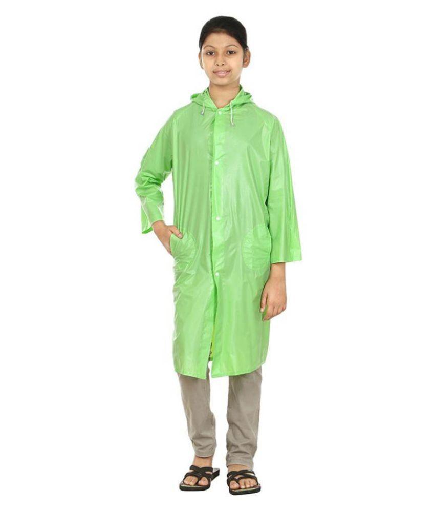 Rainfun Green Long Raincoat