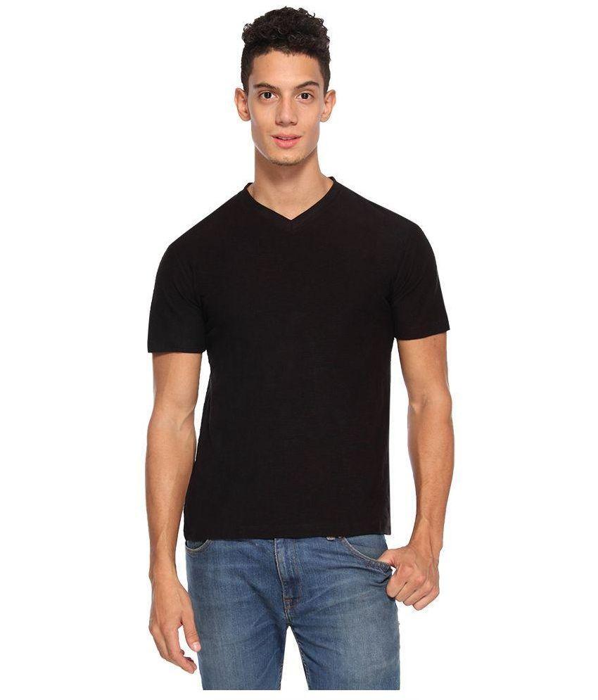 ARISE by beroe Black V-Neck T Shirt