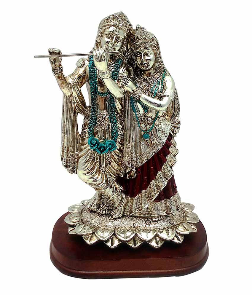 Art N Hub Radha Krishan Earthenware Idol