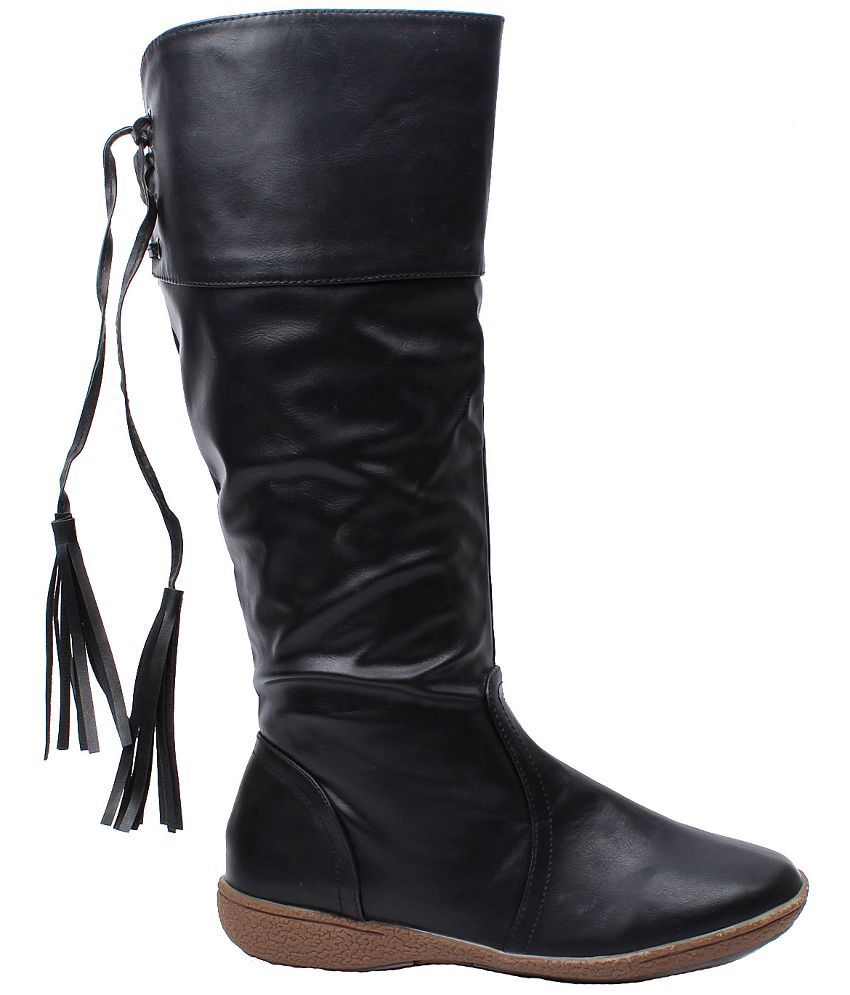 5c2d991a832 Foot Candy Black Knee Length Boots Price in India- Buy Foot Candy Black Knee  Length Boots Online at Snapdeal