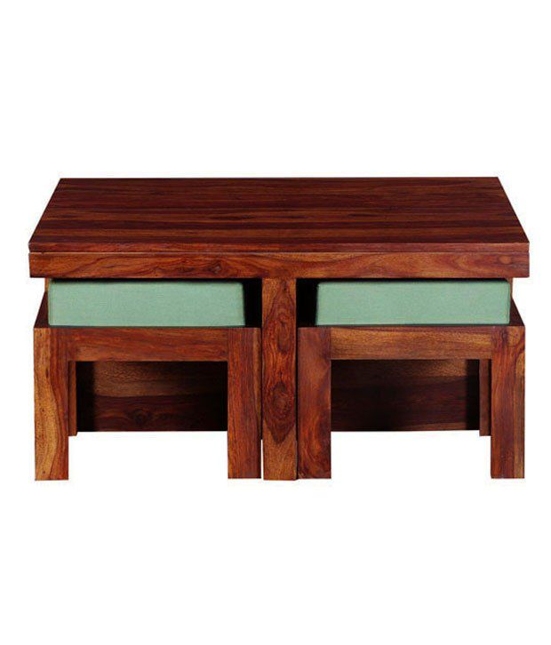 Smart Choice Sheesham Wood Coffee Table with 4 Mini Stools. Smart Choice Sheesham Wood Coffee Table with 4 Mini Stools   Buy