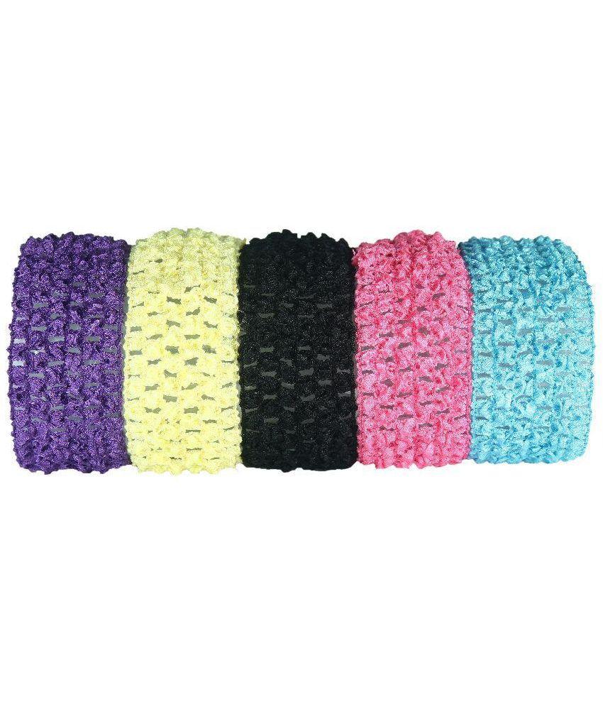 Funky Baby Multicolour Crochet Headband - Pack of 5