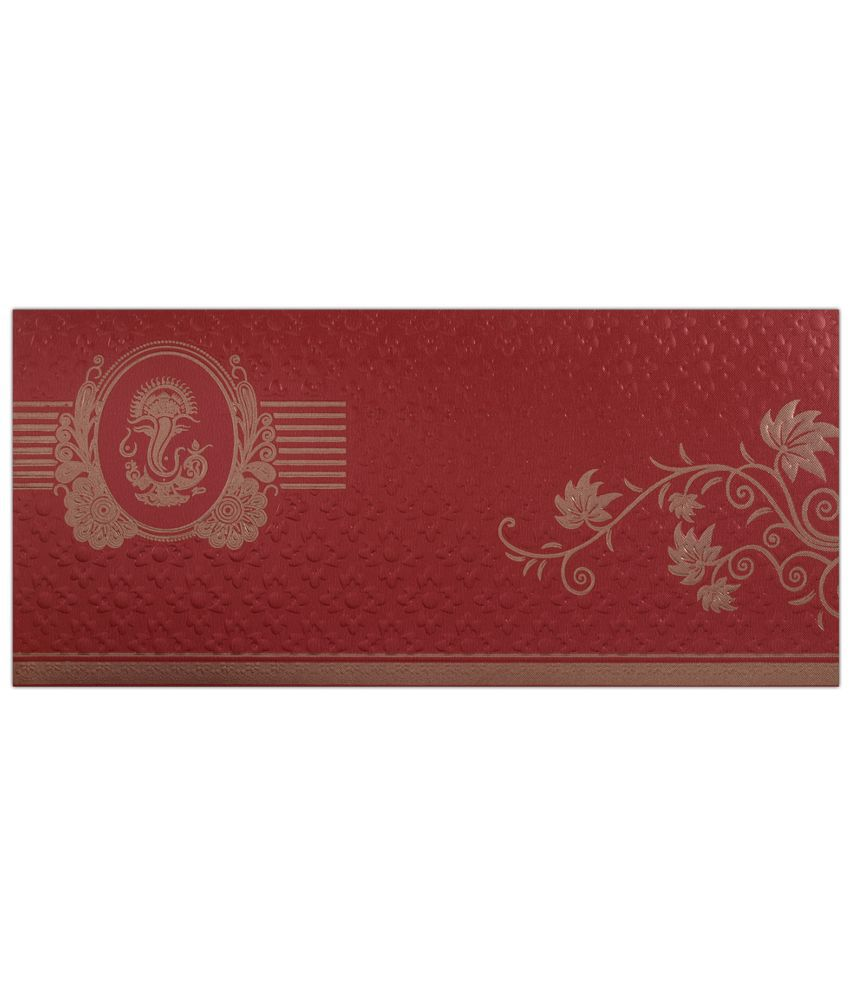 King of Cards Red Wedding Invitation Cards - Pack of 100: Buy Online ...