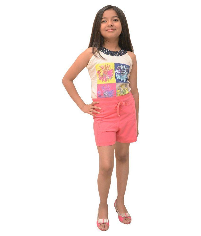 Titrit Pink Viscose Shorts
