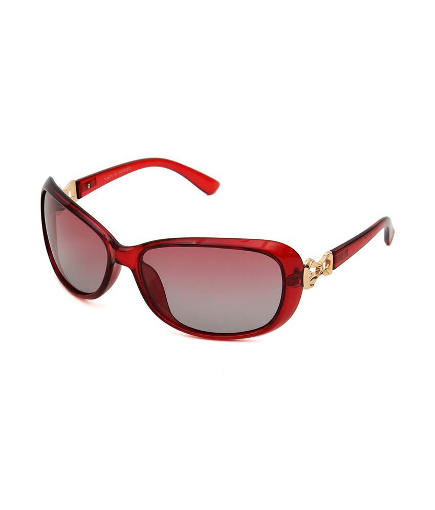 6by6 Red Wrap Around Sunglasses ( SG1327 )