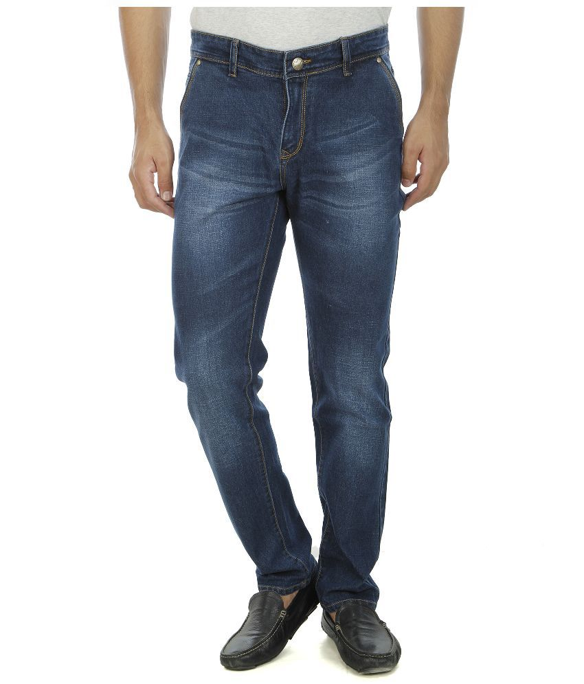 Aliens Valley Navy Regular Fit Washed Jeans