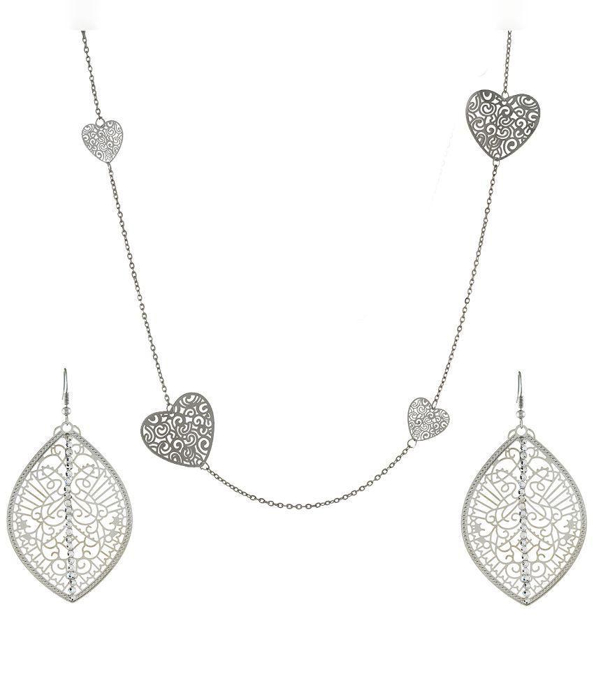 OSF Silver Alloy Necklaces Set