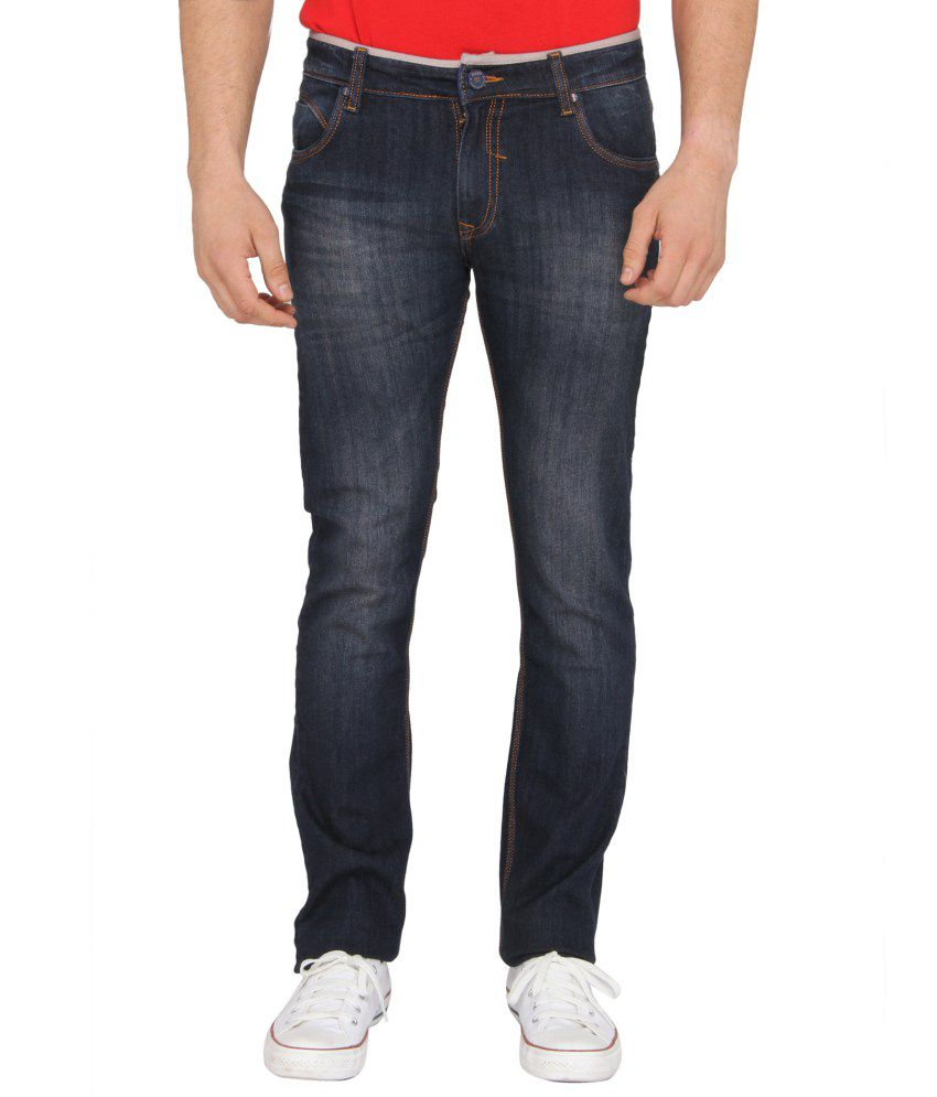 Donear NXG Navy Slim Fit Faded Jeans
