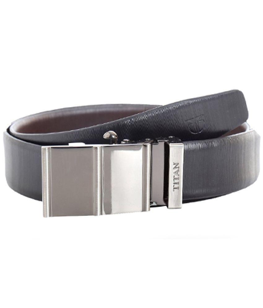 Titan Black Leather Reversible Belt for Men Art TB171LM1R2