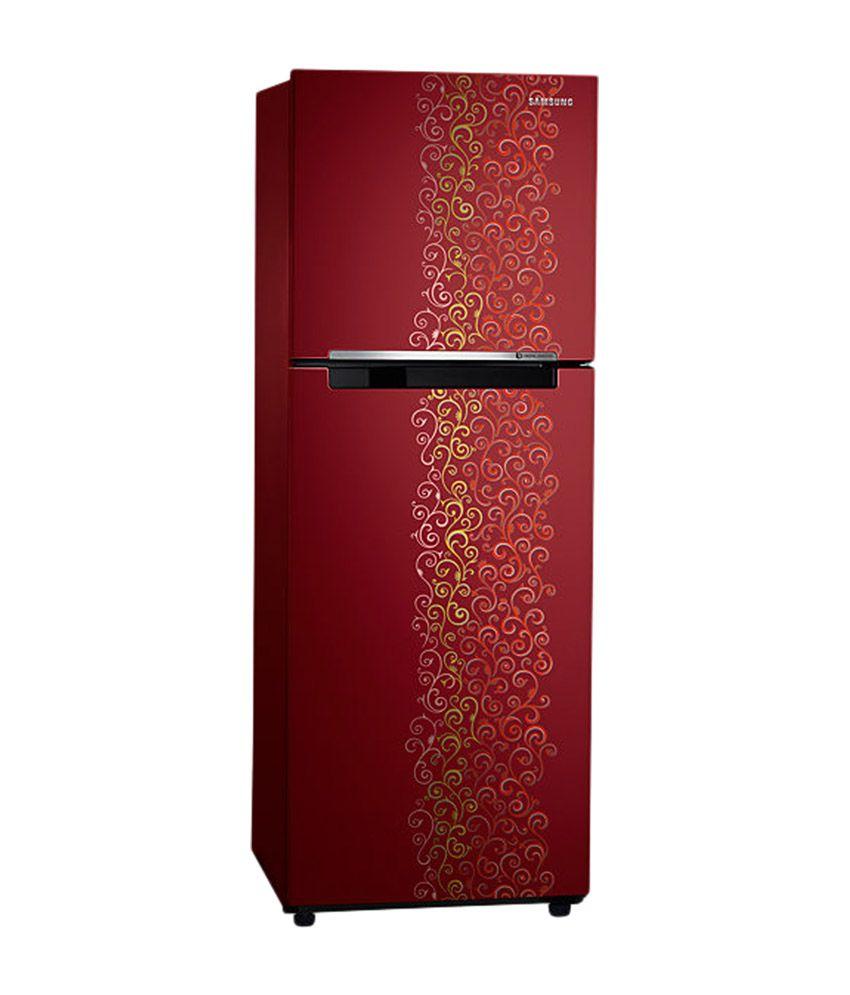 Samsung 253 Ltr 2 Star RT28K3022RJ Double Door Refrigerator - Royal Tendril Red