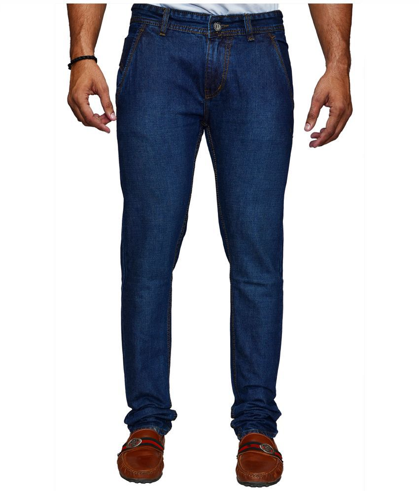 X-Cross Blue Slim Fit Solid Jeans