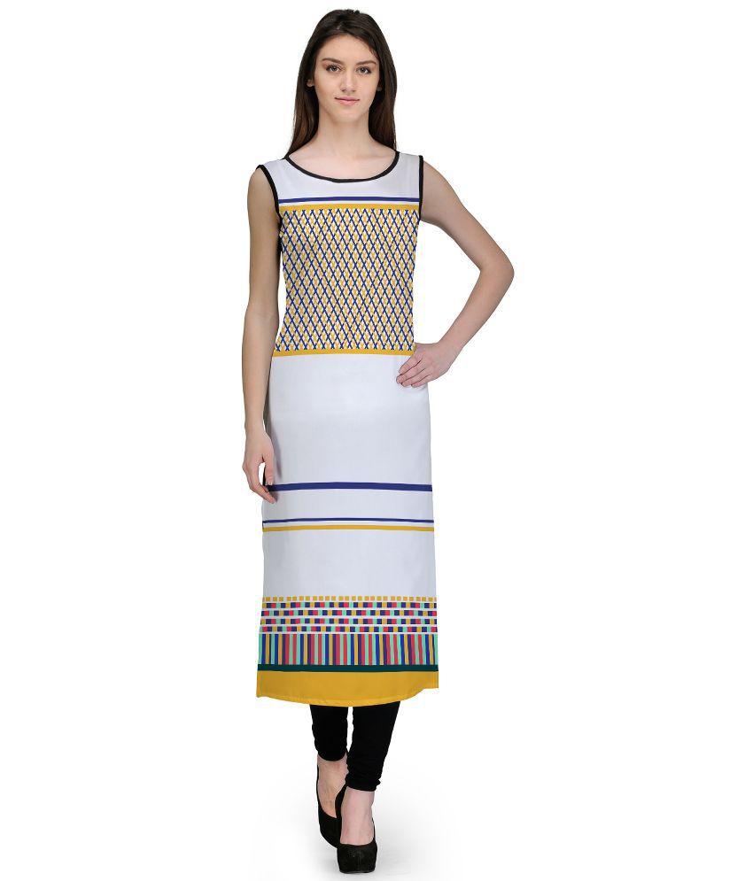 Avya Multicoloured Georgette Straight Kurti