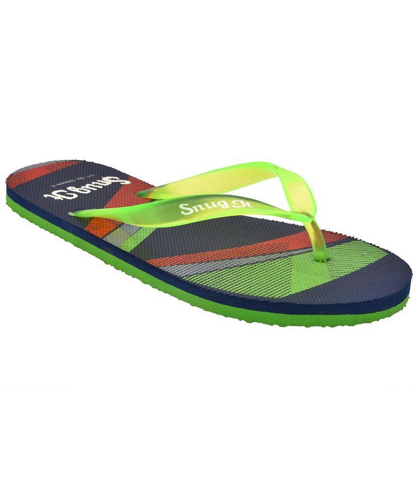 692145b1e SnugIt Green Flip Flops Price in India- Buy SnugIt Green Flip Flops Online  at Snapdeal
