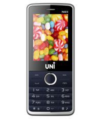 UNI DUAL SIM 2.4 inch FEATURE PHONE N603-Blue