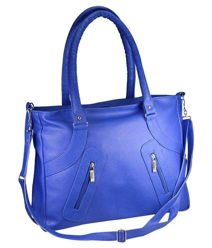 Bellina Blue P.U. Shoulder Bag