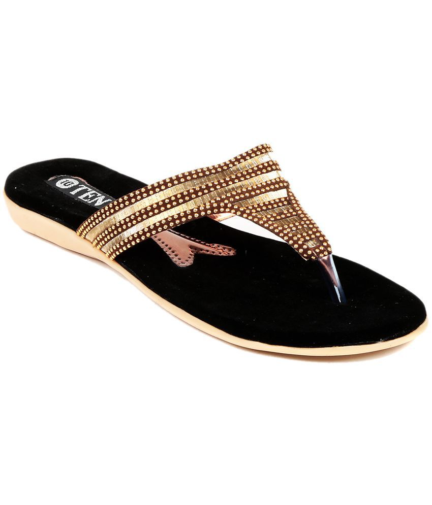 TEN Brown Slippers