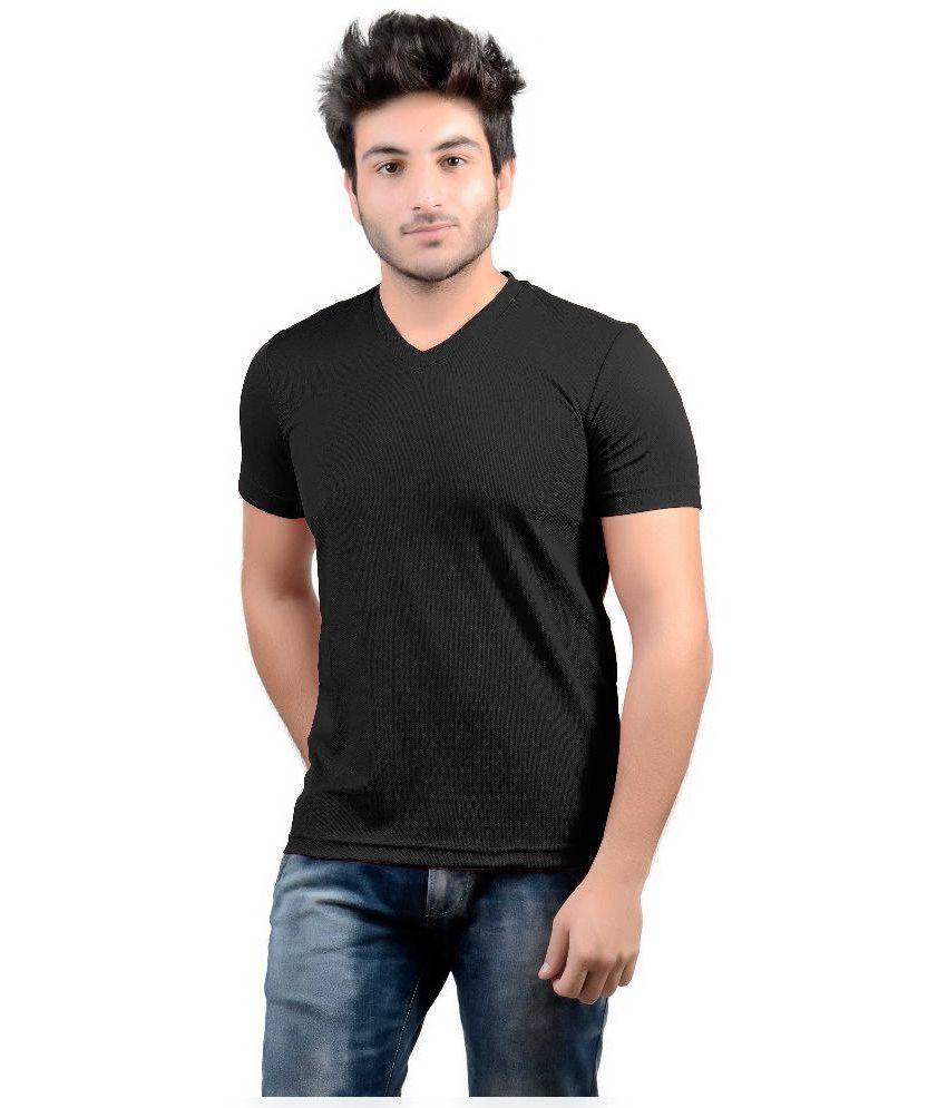 DS World Black V-Neck T Shirt