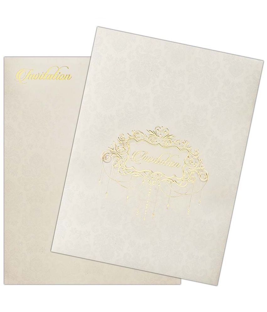 King of Cards Wedding Invitation Card - Pack of 100: Buy Online at ...