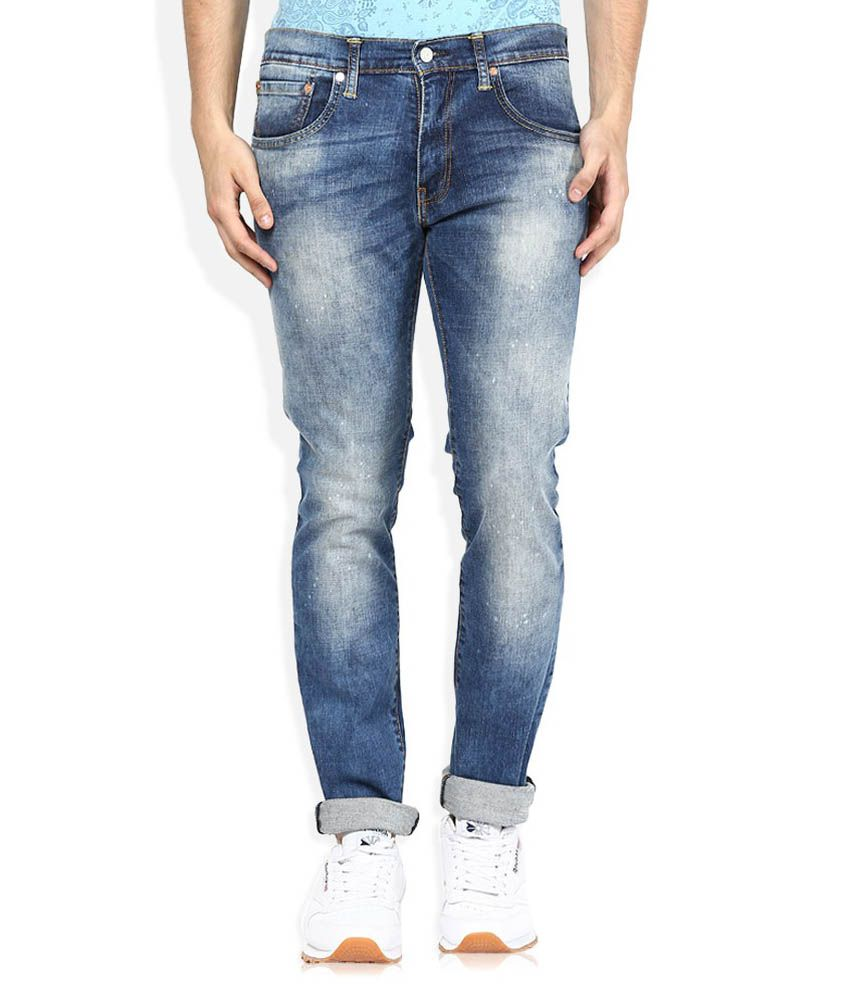Levi's Blue Slim Fit Faded Jeans