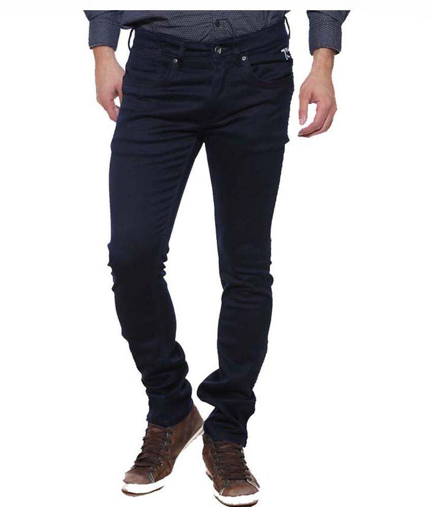 Pepe Jeans Blue Regular Fit Solid Jeans