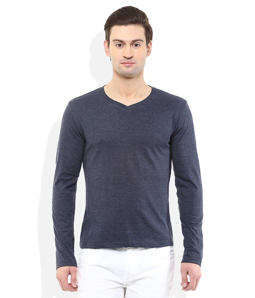 Acropolis Grey V-Neck T Shirt