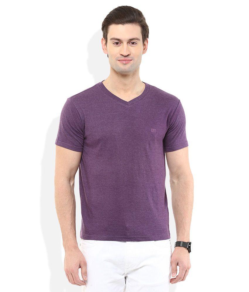 Acropolis Purple V-Neck T Shirt