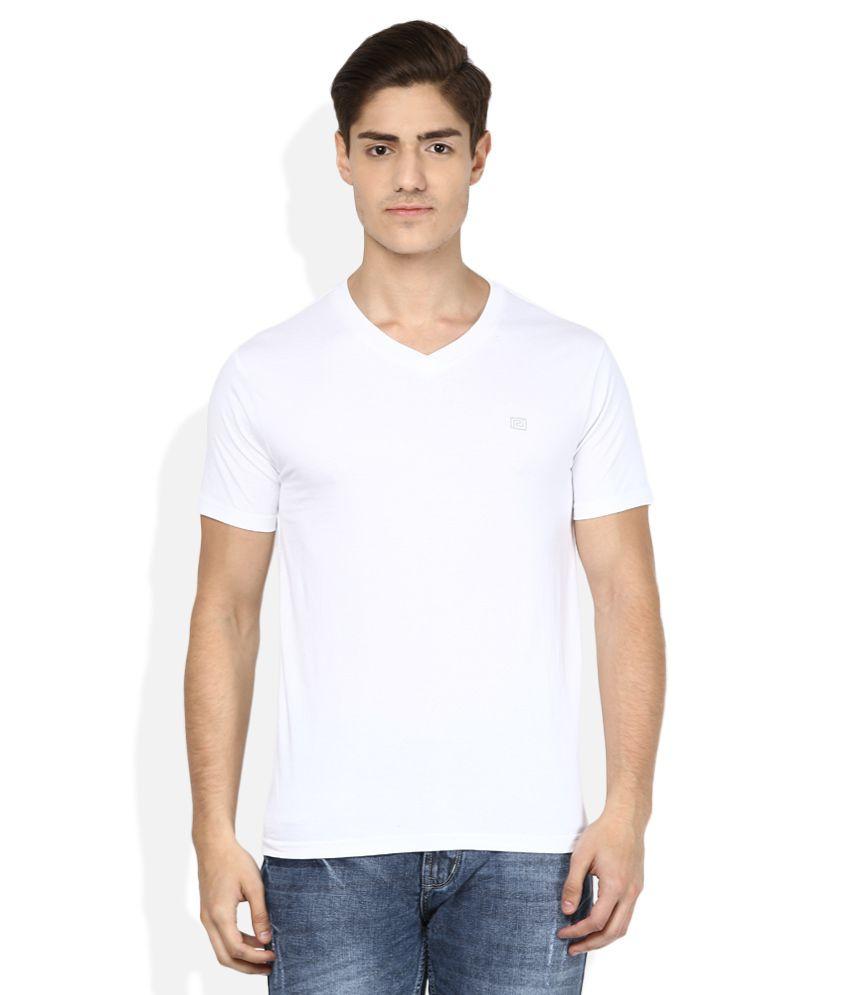 Acropolis White V-Neck T Shirt
