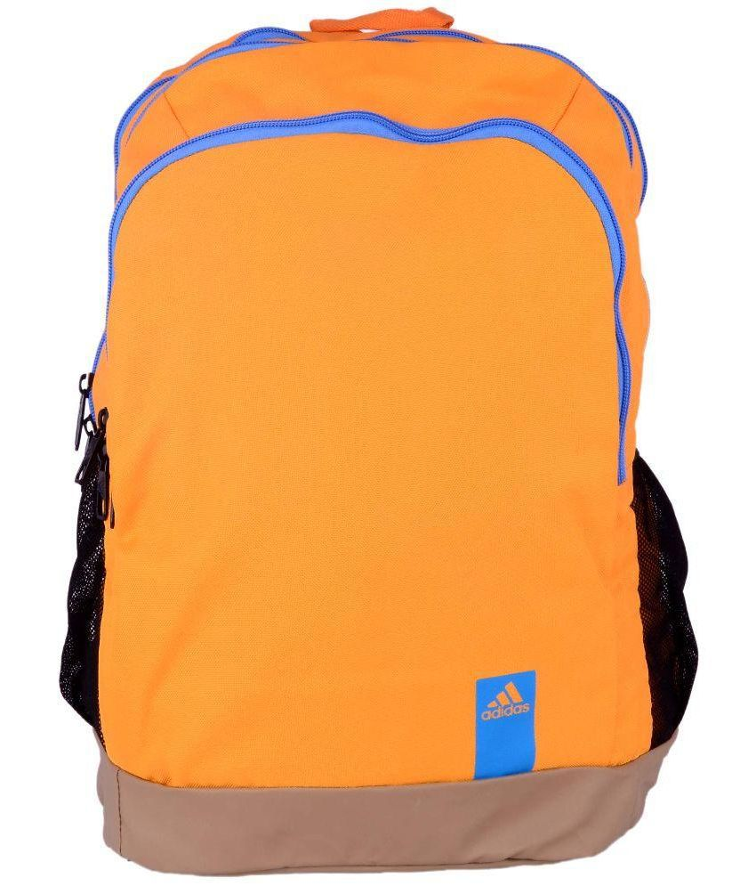 e2bfd56b4ad926 Adidas Orange Polyester Casual Backpack - Buy Adidas Orange Polyester Casual  Backpack Online at Low Price - Snapdeal