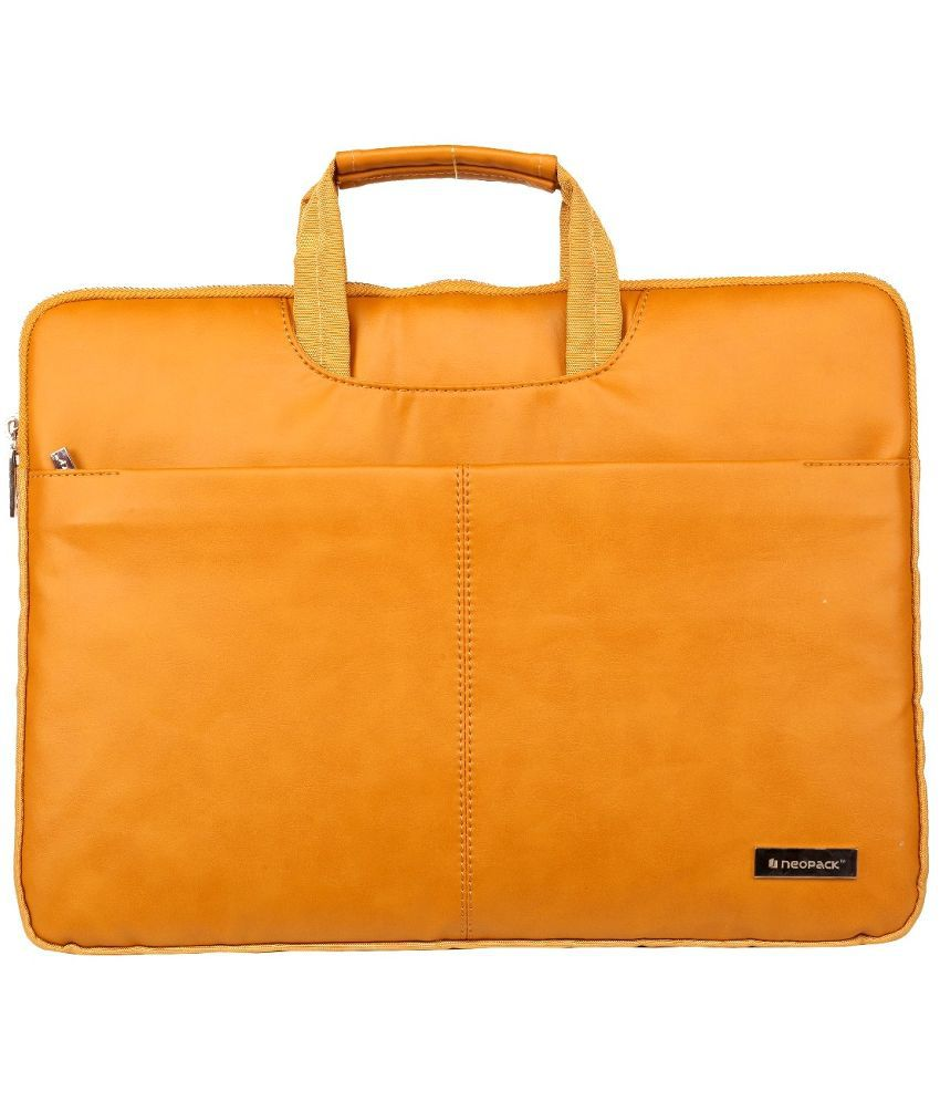 Neopack 9BR13-Relist Tan Leather Laptop Sleeve