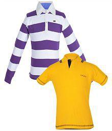 Gkidz Multicolour Cotton Polo T-Shirt - Pack of 2