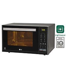 LG 32 Ltrs MJ3296BFT Convection Microwave Oven Black