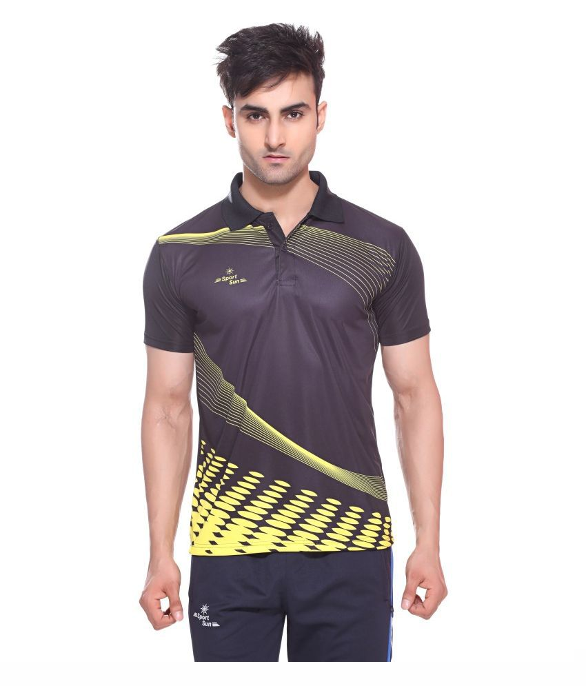 Sport Sun Multicolour Polyester Polo T-Shirt for Men