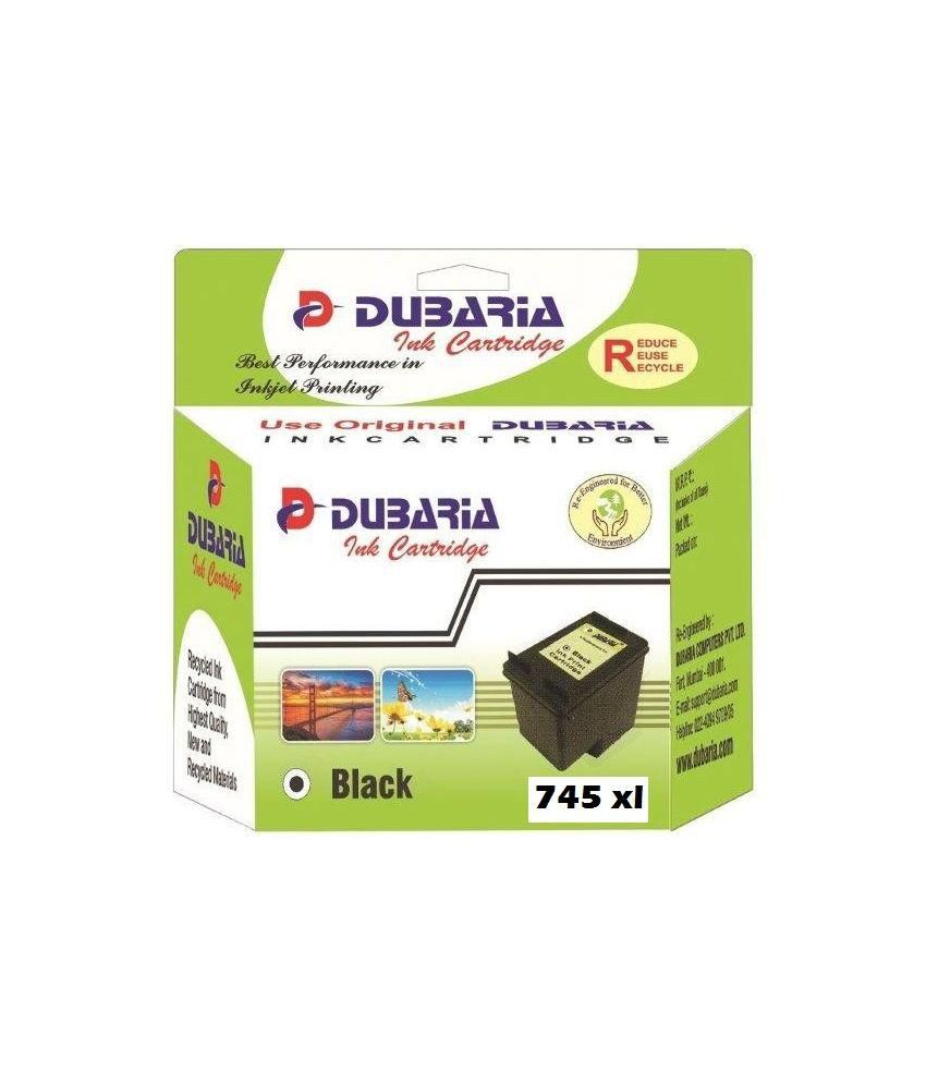 Dubaria 745 Xl Black Ink Cartridge Compatible For Canon Pg 745 Xl Black