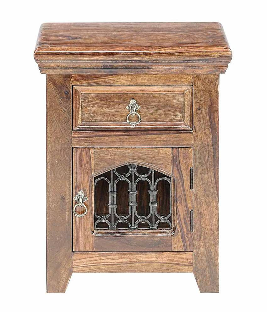 Natural Living Thistle Solid Wood Bedside Table
