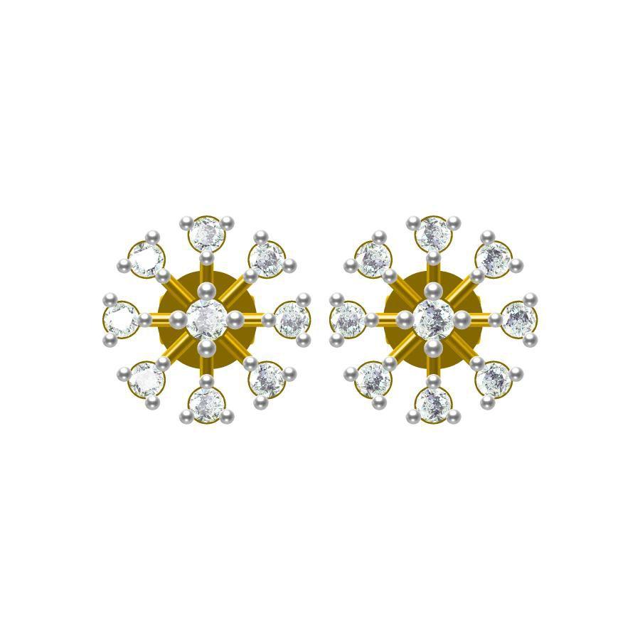 Sakshi Jewels 14kt Gold Stud Earrings