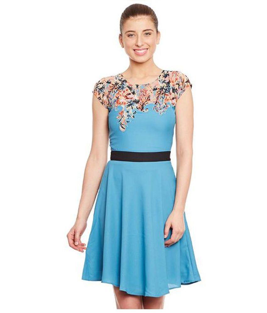 The Vanca Blue Georgette Dresses