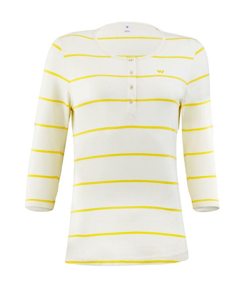 Wildcraft Essential Henley T-Shirt - White