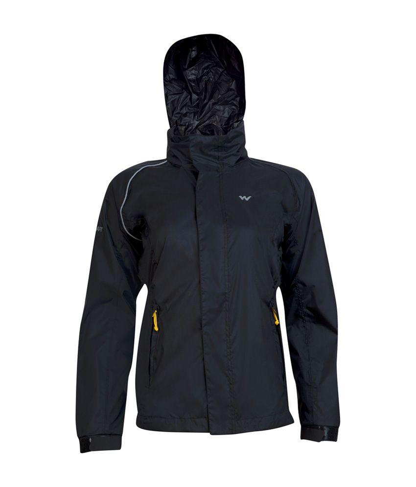 Wildcraft Women's Black Rain Jacket