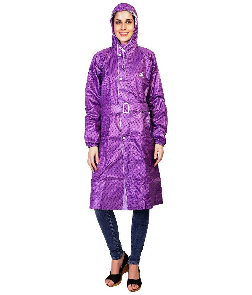 Zeel Purple Polyester Raincoat