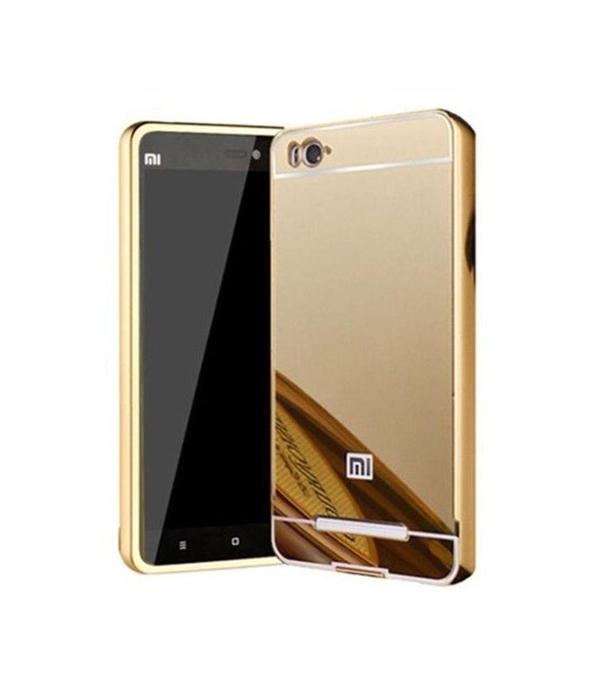 blj back cover for xiaomi redmi mi4i   golden   plain back