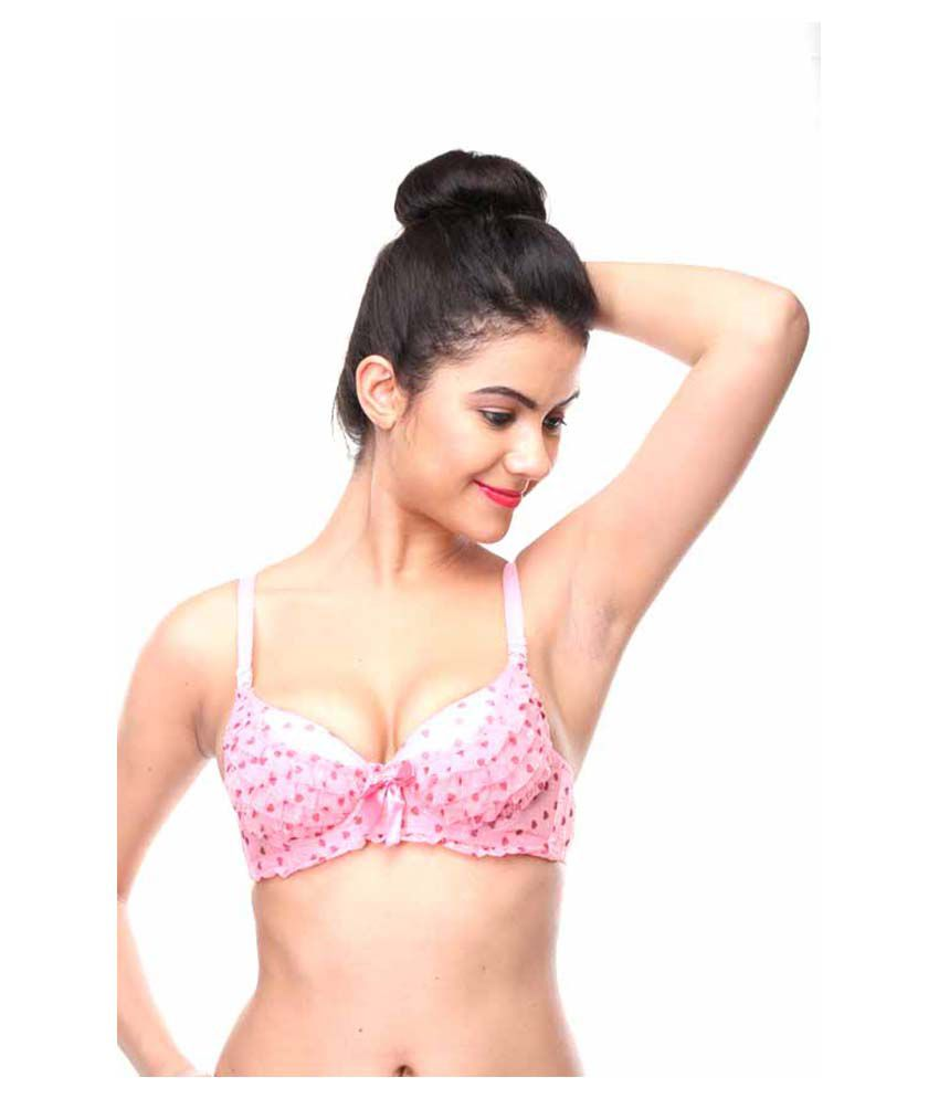 b31b2a4284 Buy Feminin Pink Cotton Bra Online at Best Prices in India - Snapdeal