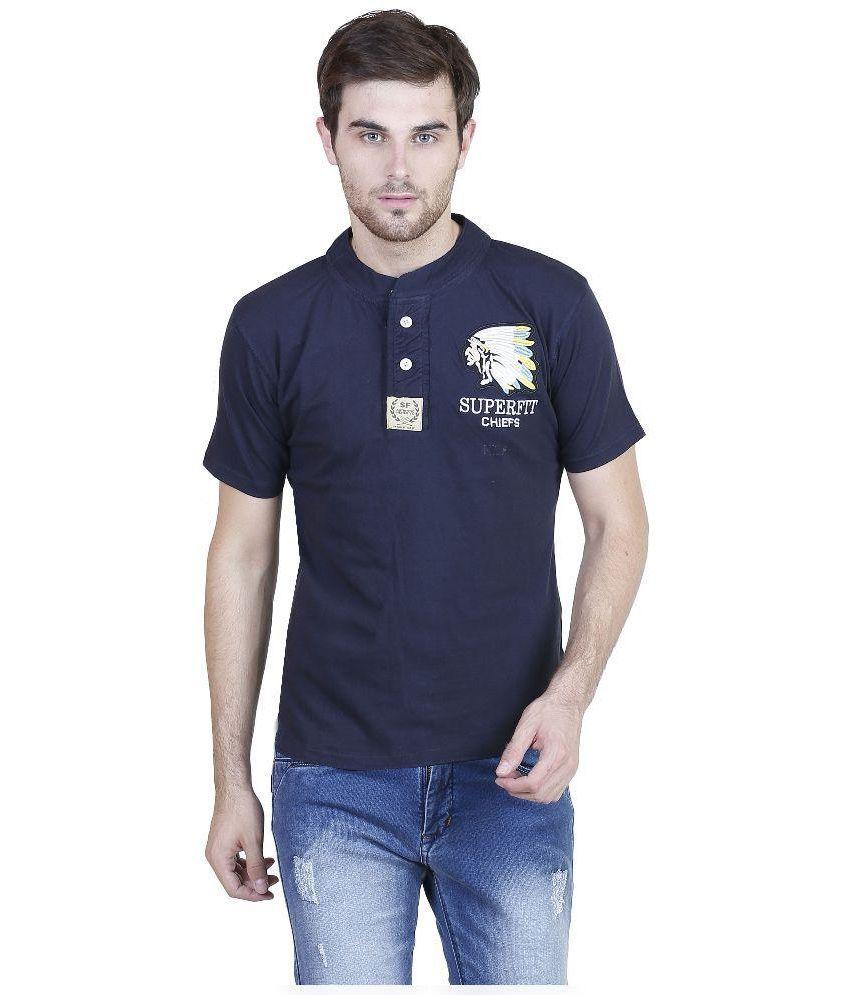 Habitude Navy Henley T Shirt