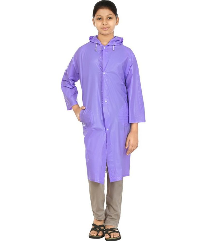 Inside Fashion Purple Viscose Rainwear Jacket