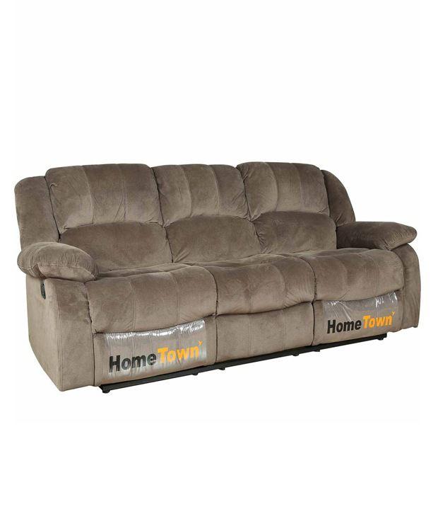 Fine Hometown Rhea Fabric 3 Seater Recliner Buy Hometown Rhea Unemploymentrelief Wooden Chair Designs For Living Room Unemploymentrelieforg