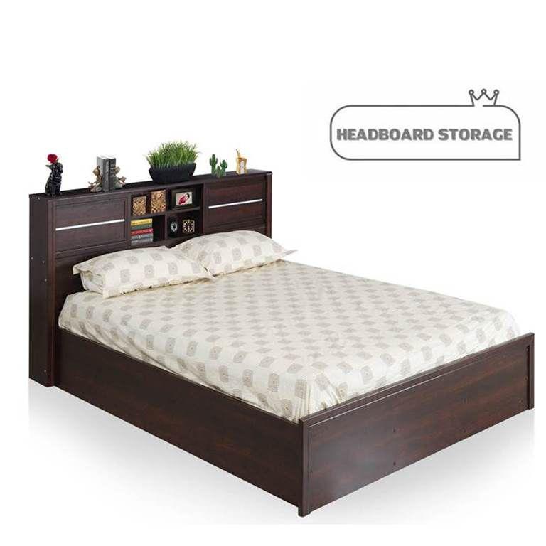 royaloak milan queen size bed with headboard storage buy royaloak rh snapdeal com