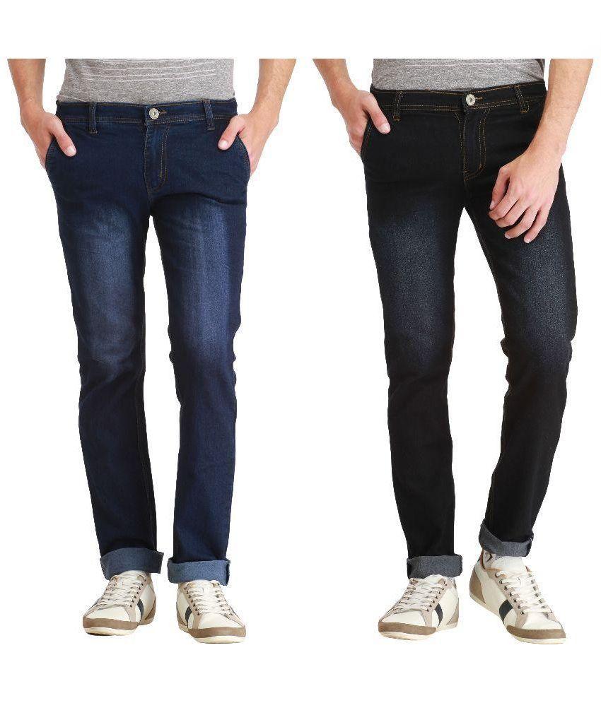 London Looks Multi Regular Fit Faded Jeans