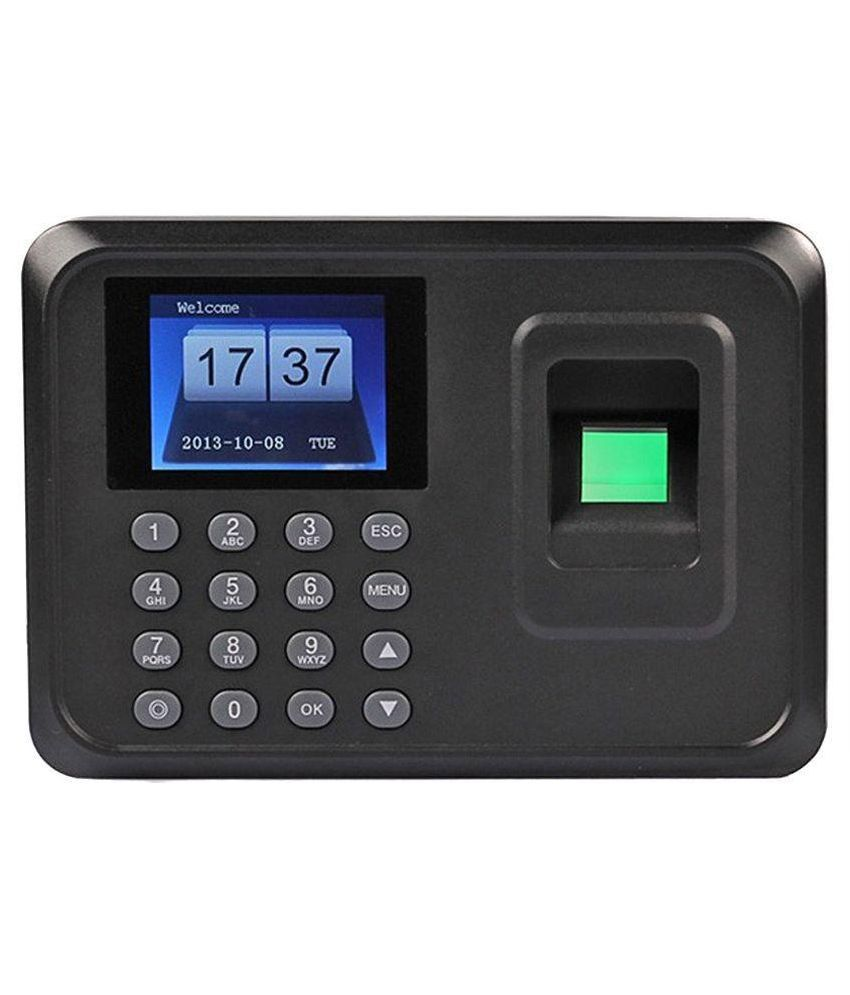 MDI-3600 Plastic Biometric Finger-Print Time Attendance Machine - Black