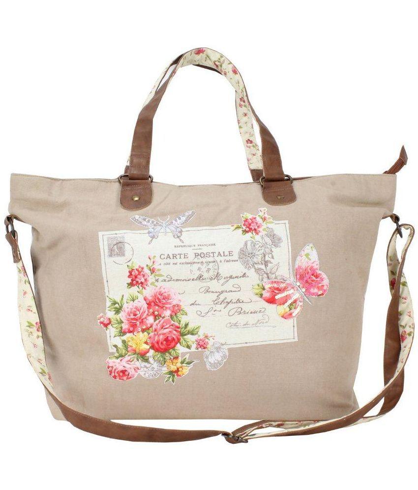 Sanaa Multi Fabric Shoulder Bag