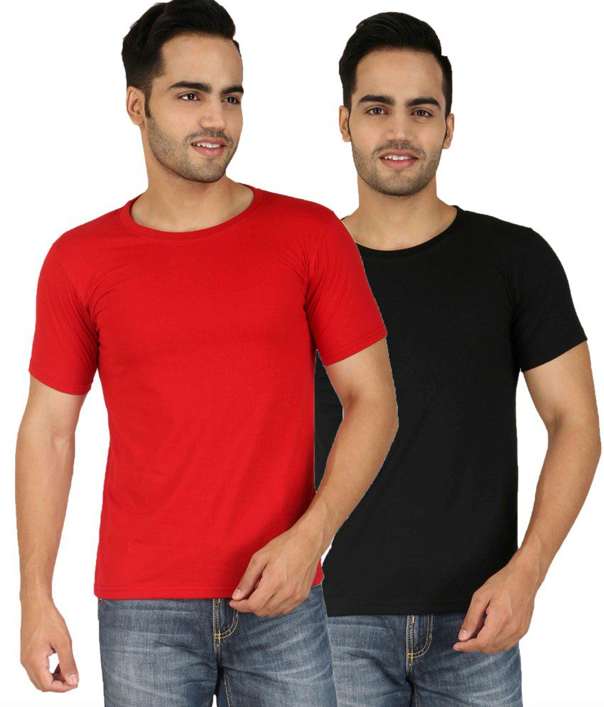 Baremoda Multi Round T Shirt Pack of 2